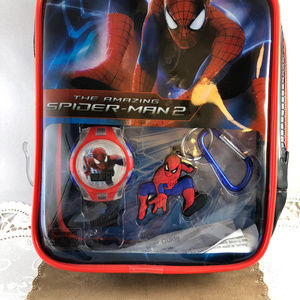 Marvel Accessories - Spider Man Watch & Key Fob Collectible Bag New
